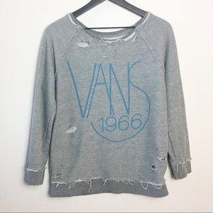 Gray Vans Distressed Sweatshirt SZ M